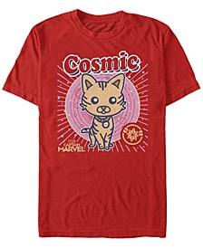 Men's Captain Marvel Cosmic Goose Kawaii Cartoon, Short Sleeve T-shirt