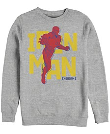Men's Avengers Endgame Iron Man 3d Pop Art, Crewneck Fleece