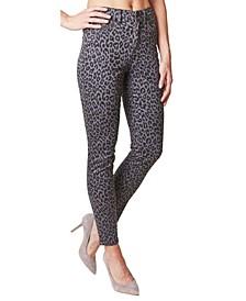 Soho Leopard-Print High-Rise Skinny Jeans