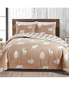 Great Bay Home Rio Ridge Collection Lodge Print 3-Piece Quilt Set, King