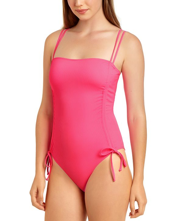 California Waves Ribbed One-Piece Swimsuit, Created for Macy's