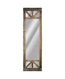 American Art Decor Rustic Wood Full Length Mirror