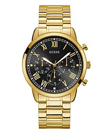 Men's Gold-Tone and Black Stainless Steel Multi-Function Watch, 44mm
