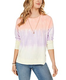 Petite Tie-Dye Sweatshirt, Created For Macy's