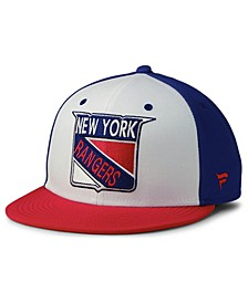 New York Rangers Tri-Color Throwback Snapback Cap