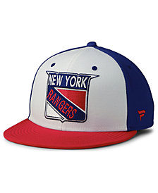Authentic NHL Headwear New York Rangers Tri-Color Throwback Snapback Cap