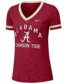 Women's Alabama Crimson Tide Slub Fan V-Neck T-Shirt