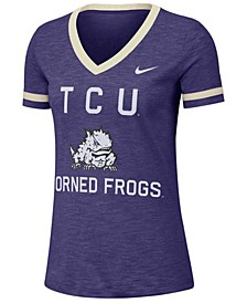 Women's Texas Christian Horned Frogs Slub Fan V-Neck T-Shirt