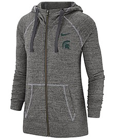 Women's Michigan State Spartans Gym Vintage Full-Zip Jacket