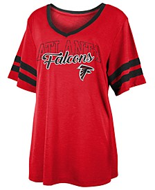Women's Atlanta Falcons Sleeve Stripe Slub T-Shirt