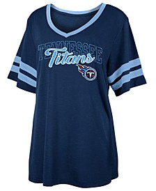 Women's Tennessee Titans Sleeve Stripe Slub T-Shirt