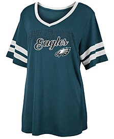 Women's Philadelphia Eagles Sleeve Stripe Slub T-Shirt
