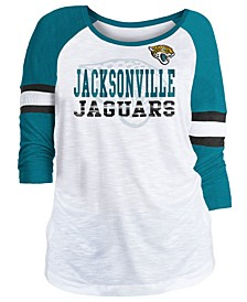 Women's Jacksonville Jaguars Three-Quarter Sleeve Slub Raglan T-Shirt