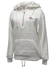 Women's Denver Broncos Sherpa Quarter-Zip Pullover