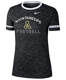 Women's Appalachian State Mountaineers Slub Fan Ringer T-Shirt