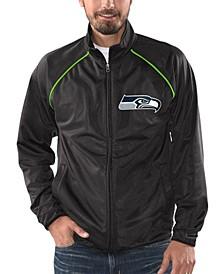 Men's Seattle Seahawks Black Tracer Track Jacket