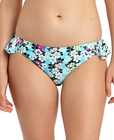 Floral-Print Ruffled Hipster Bikini Bottoms, Created for Macy's