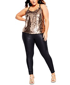 Trendy Plus Size Glimmer Top