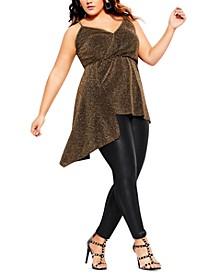 Trendy Plus Size Glitzy Asymmetrical Camisole