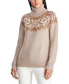 Knit Cotton-Blend Turtleneck