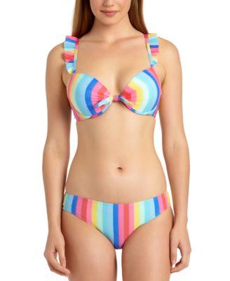 Juniors' Shiny Rainbow Hipster Bikini Bottoms, Created for Macy's