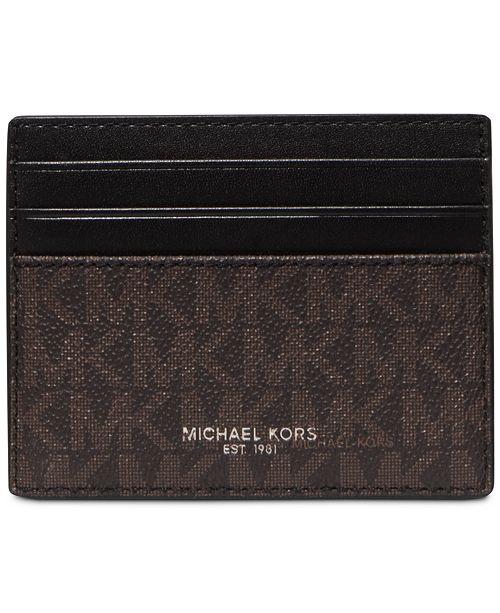 Michael Kors Men's Greyson Logo-Print Card Case