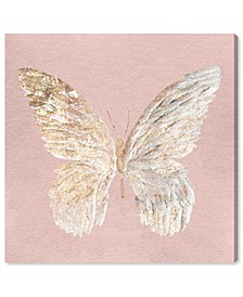Golden Butterfly Glimmer Blush Canvas Art Collection