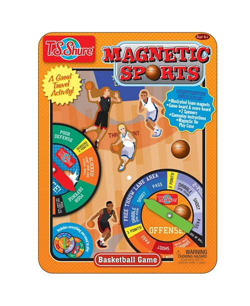 T.S. Shure Basketball Magnetic Sports Game Tin
