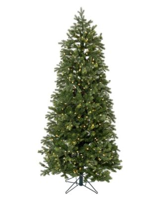 9' Pre-lit Slim Christmas Tree with White LED Lights