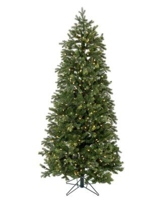7.5' Pre-lit Slim Christmas Tree with White LED Lights