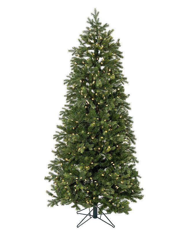 Perfect Holiday Pre-Lit Slim Christmas Tree with White LED Lights Collection