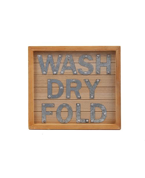 DesignStyles Laundry Room Decorative Wooden Door and Wall Sign