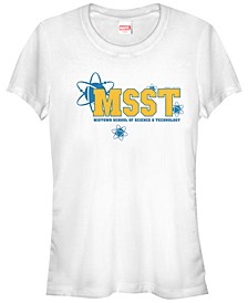 Marvel Women's Spider-Man Homecoming School Uniform Short Sleeve Tee Shirt