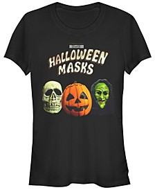 Halloween 2 Women's Masks Trio Short Sleeve Tee Shirt