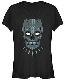 Marvel Women's Black Panther Sugar Skull Short Sleeve Tee Shirt
