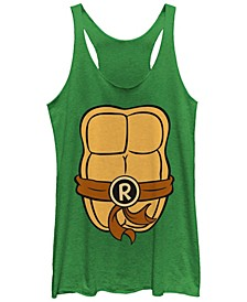 Teenage Mutant Ninja Turtles Women's Rafael Shell Tri-Blend Tank Top