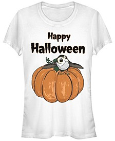 Star Wars Women's Porg on A Pumpkin Halloween Short Sleeve Tee Shirt