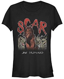 Disney Women's The Lion King Scar Hyenas Short Sleeve Tee Shirt