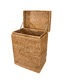 Rattan Rectangular Hamper with Hinged Lid