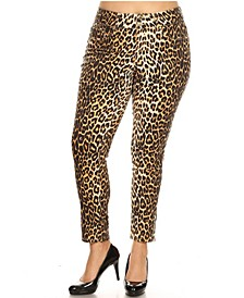 Plus Size Printed Stretchy Pants