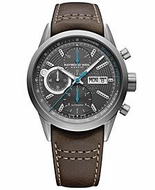Men's Swiss Automatic Chronograph Freelancer Brown Leather Strap Watch 42mm - Jimi Hendrix Limited Edition