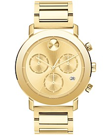 Men's Swiss Chronograph Bold Evolution Gold Ion-Plated Steel Bracelet Watch 42mm, a Macy's Exclusive Style