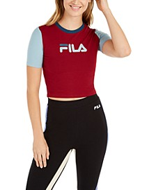Logo Colorblocked Fitted Cropped T-Shirt