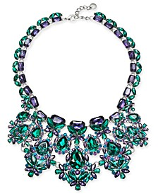 "Silver-Tone Stone Drama Statement Necklace, 17"" + 2"" extender, Created For Macy's"
