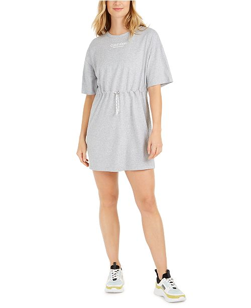 Calvin Klein Cotton Drawstring T-Shirt Dress
