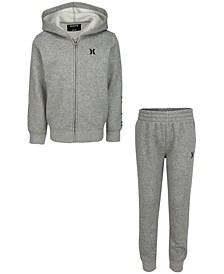 Toddler Boys 2-Pc. Fleece Hoodie & Jogger Pants Set