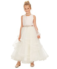 Big Girls Embellished Layered Dress