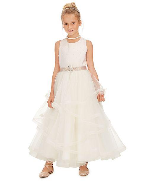 Rare Editions Big Girls Embellished Layered Dress