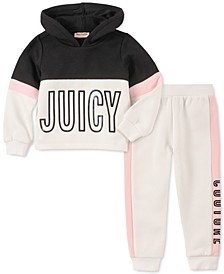 Toddler Girls 2-Pc. Colorblocked Hoodie & Jogger Pants Set