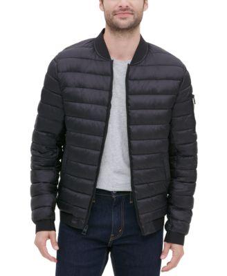 GUESS Mens Light Weight Bomber Puffer Jacket
